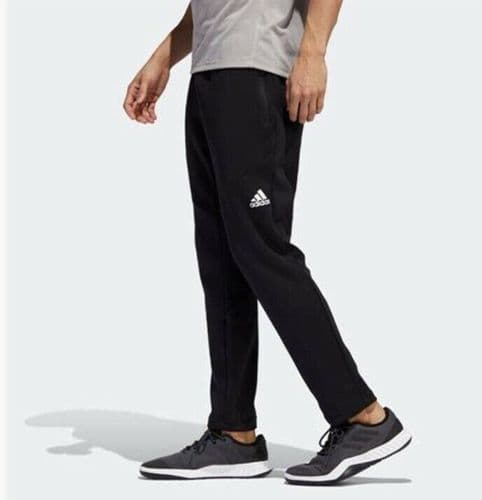 Men's Adidas Warm Pant Trousers Joggers in Black Brand NEW with Tags DZ7370